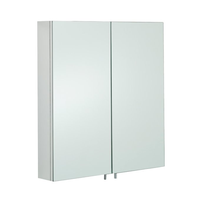 Delta Stainless Steel Double Cabinet with Mirrored Doors (H)600x(W)670x(D)120mm