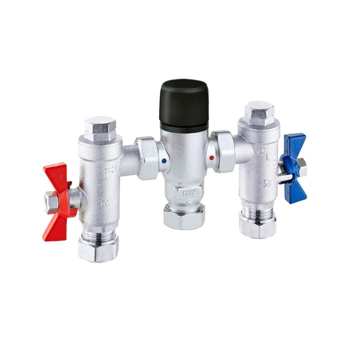 Compact Commercial Thermastatic mixing valve 22mm