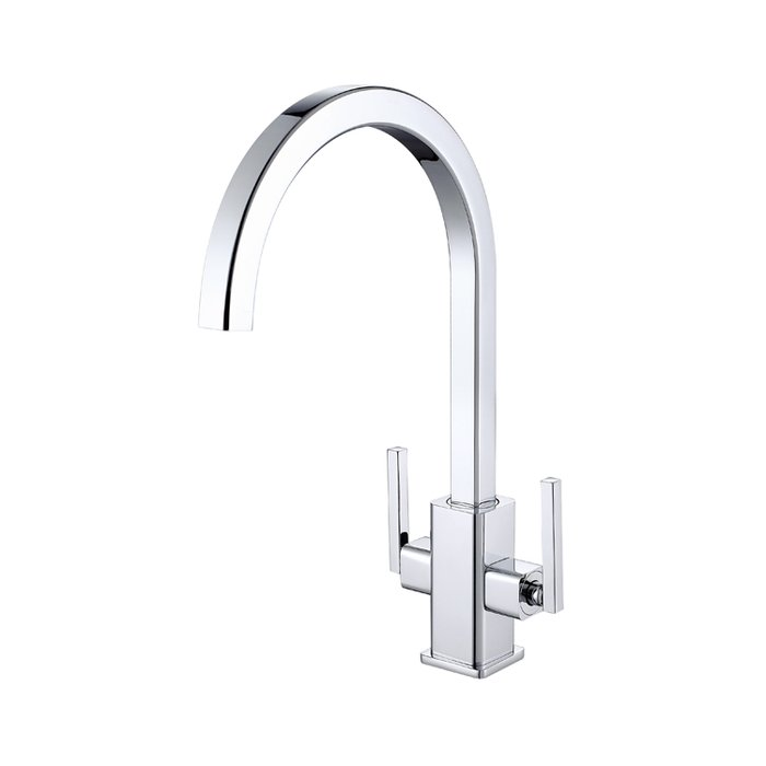 Kitchen sink mixer tap modern twin lever