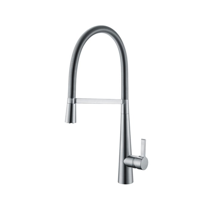 Pull out Kitchen sink mixer side lever