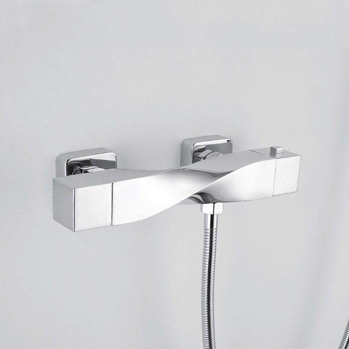 Reserva Wall mounted thermostatic bath shower mixer