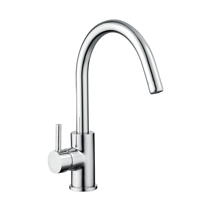 Kitchen sink mixer tap side lever