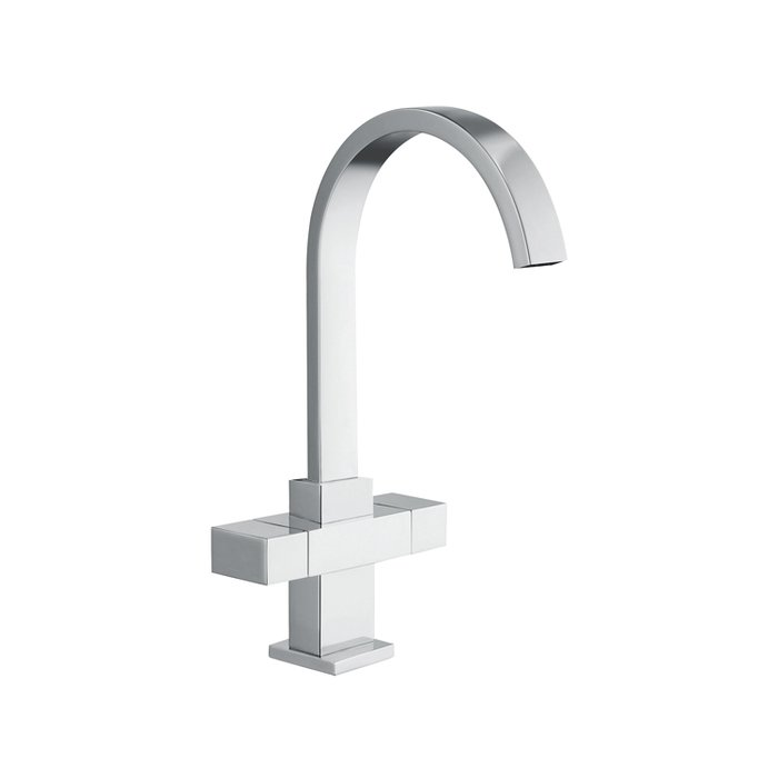 Kitchen sink mixer tap modern block lever