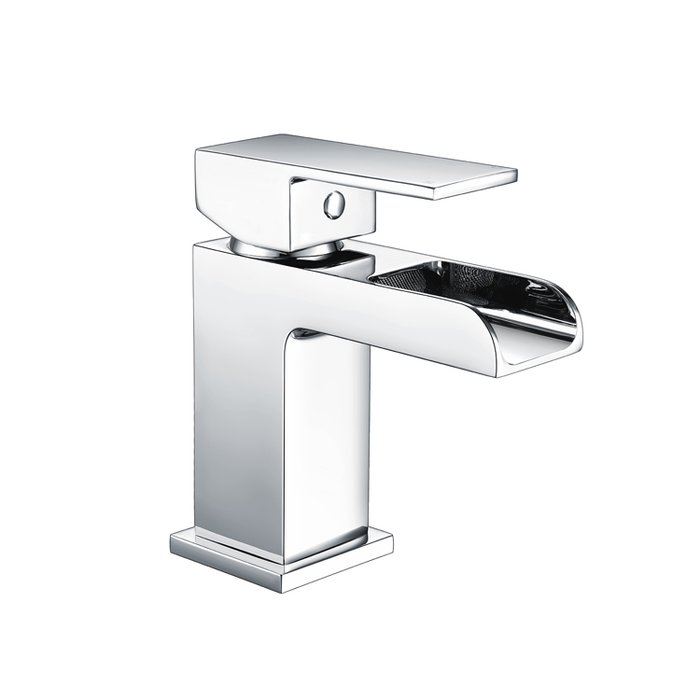 Basin Art Waterfall Mono basin mixer flat