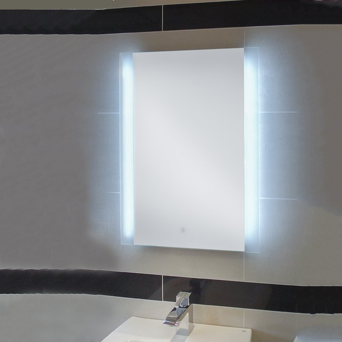 Manhattan LED Mirror with Demister Pad & Shaver Socket (H)700x(W)500mm