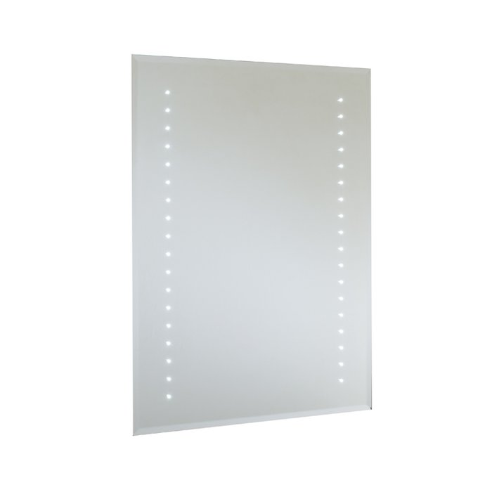 Rubens LED Bevel Edged Mirror Mirror with On/Off Rocker Switch, Shaver Socket & Demister Pad (H)800x(W)600mm