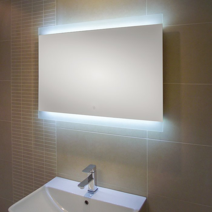 Manhattan LED Mirror with Demister Pad & Shaver Socket (H)600x(W)800mm