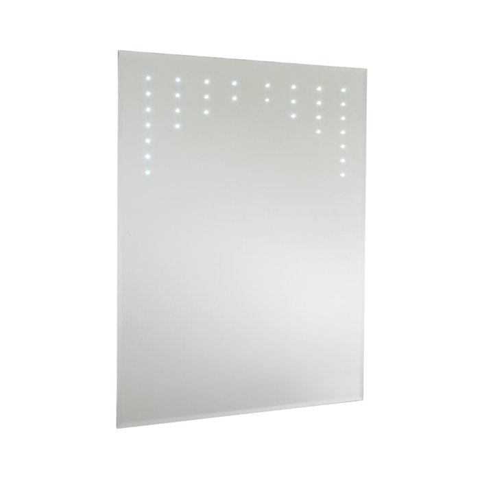 Cezanne LED Bevel Edged Mirror with On/Off Sensor Switch, Shaver Socket & Demister Pad. (H)800x(W)600mm