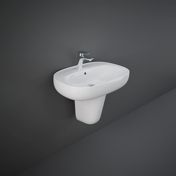 RAK-ILLUSION WASHBASIN HALF PEDESTAL 35 CM