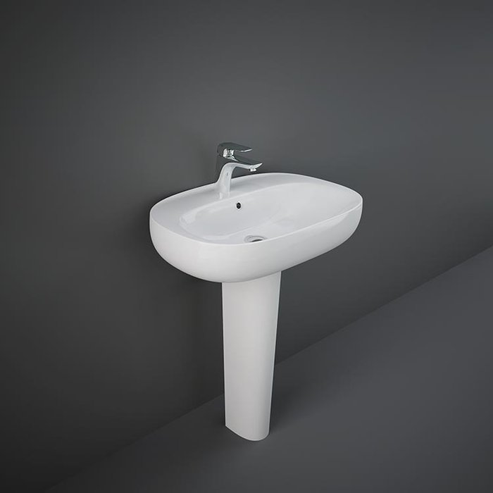 RAK-ILLUSION WASHBASIN FULL PEDESTAL 75 CM
