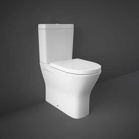 RAK Resort Rimless Wall Hung Toilet Pan Low Height 82cm Concealed Cistern Frame