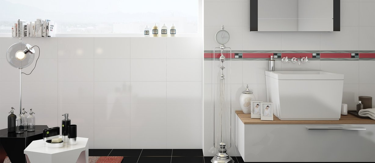 10000 White tiles Country style Bathroom