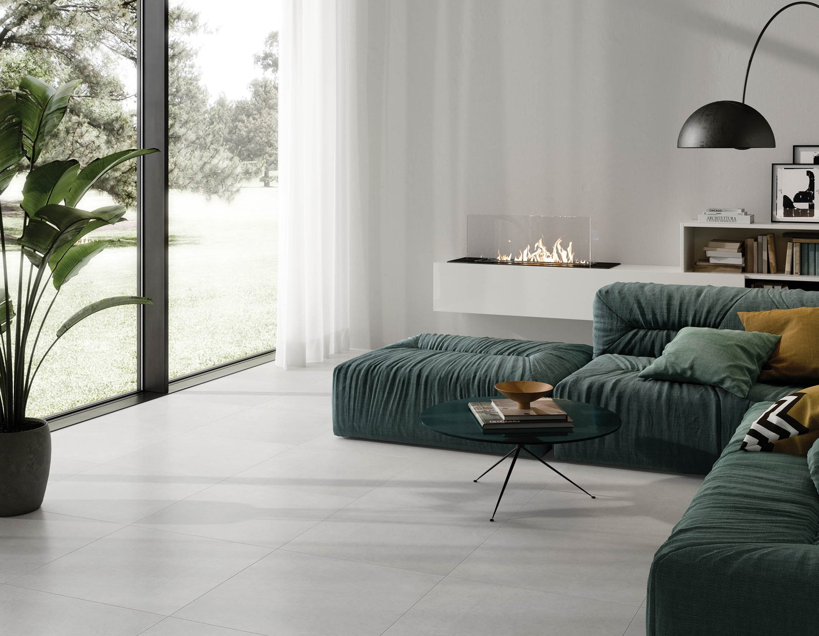 Alicante Grey tiles Modern style Living
