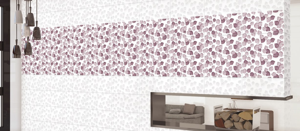 aster Mix, Pink and White tiles Modern style Living