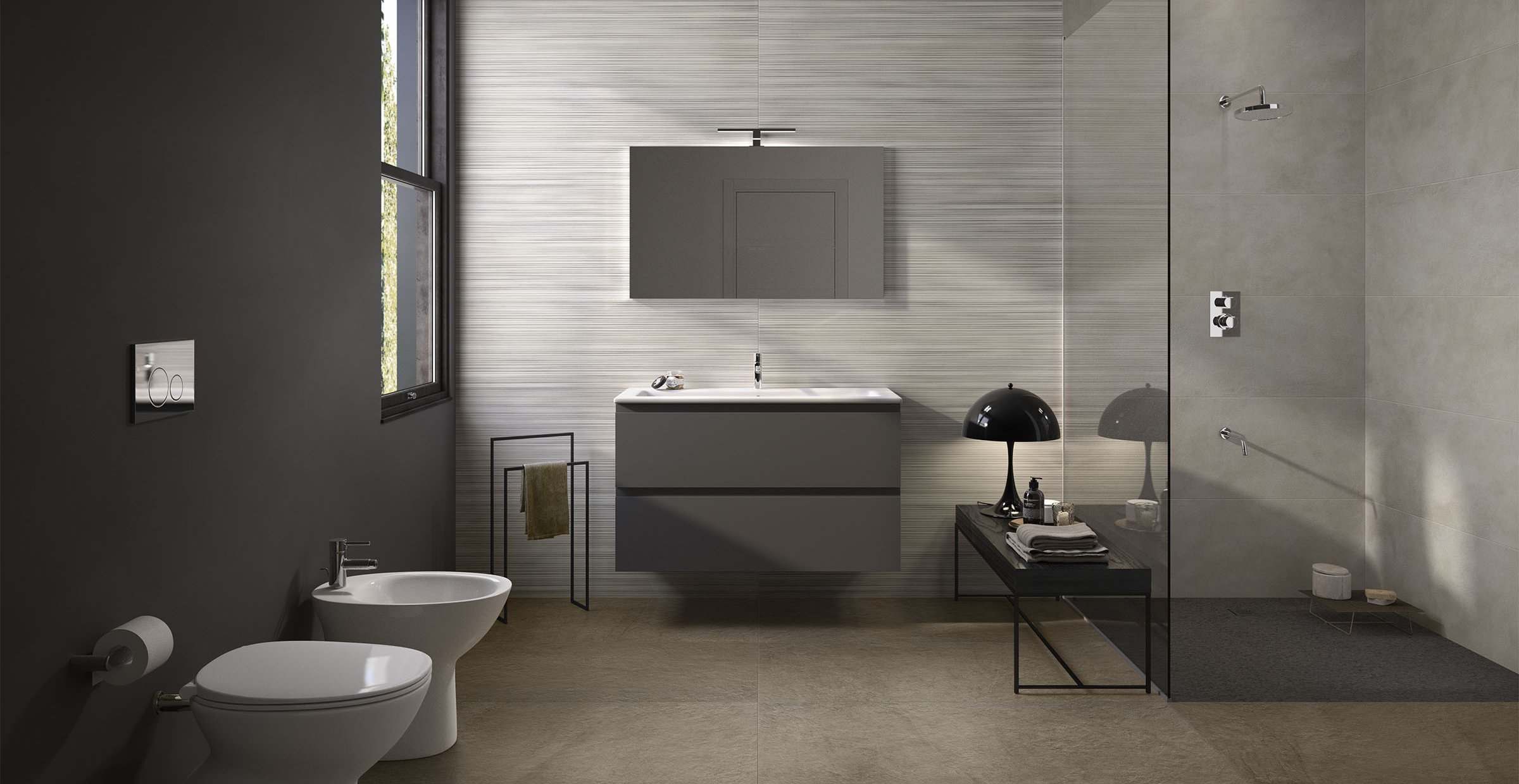 braid Ivory tiles Modern style Bathroom