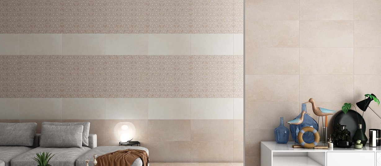 brecitonia Beige, Brown and Mix tiles Modern style Living