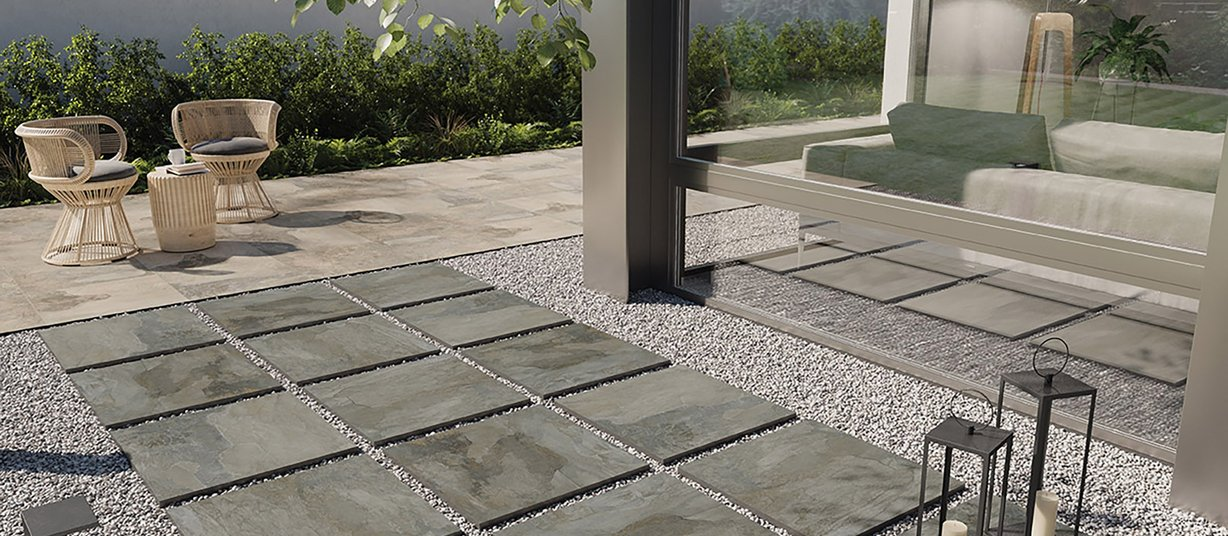 bryce Antracite piastrelle Moderno stile Outdoor