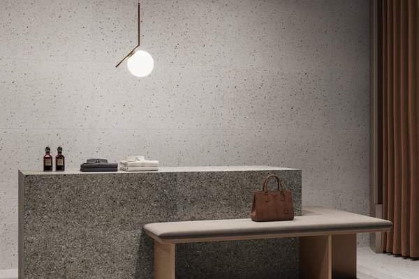 Burano Grey and White tiles Modern style Light Commercial Tiles