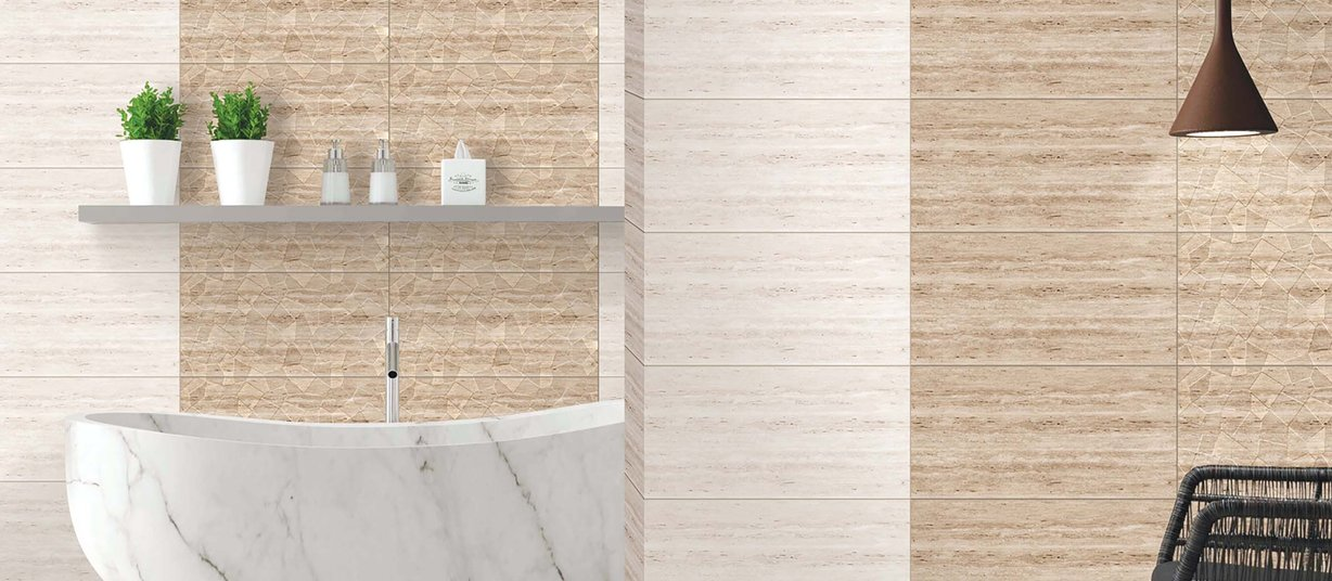 cannes Brown tiles Modern style Bathroom