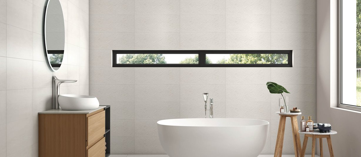 carvins Grey tiles Modern style Bathroom