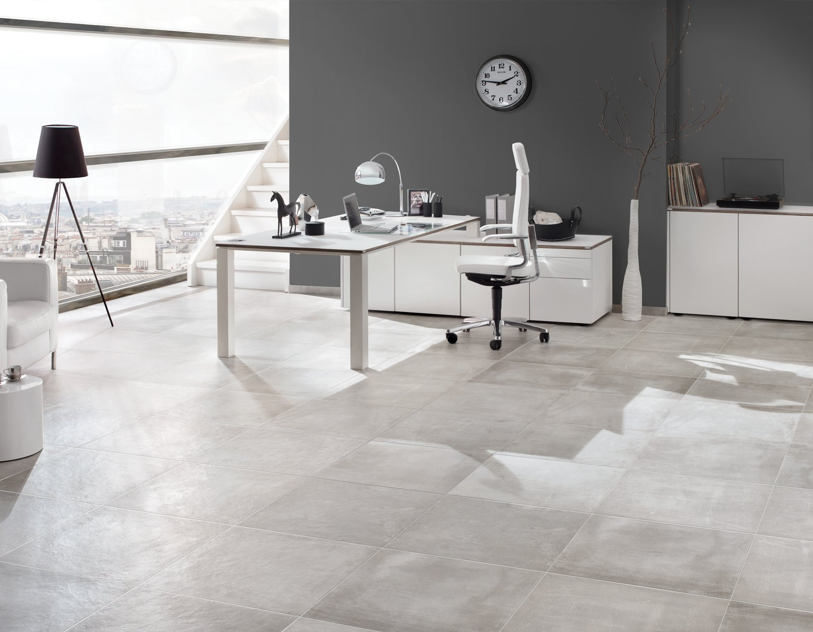 cementina Grey tiles Modern style Living