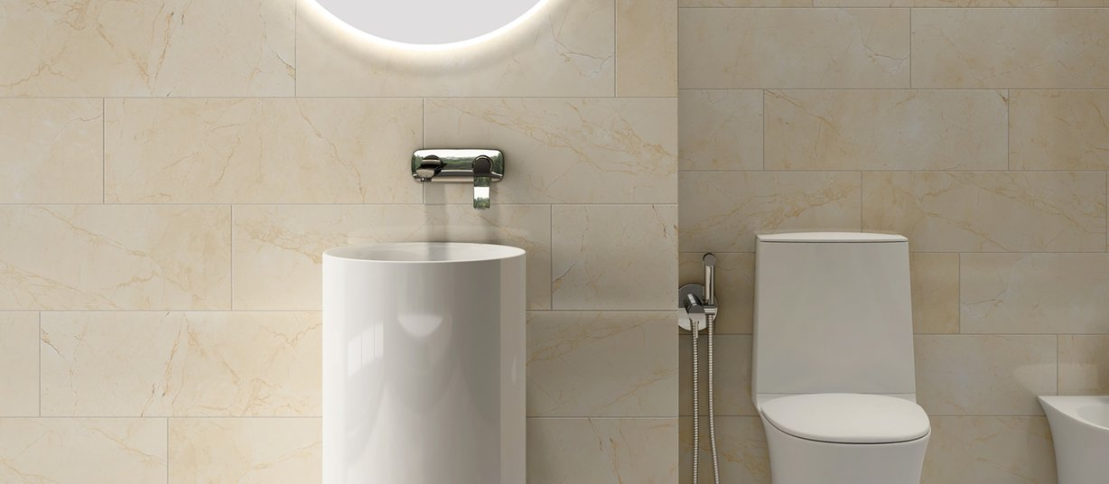Ceramic tiles sanit Beige tiles Modern style Bathroom