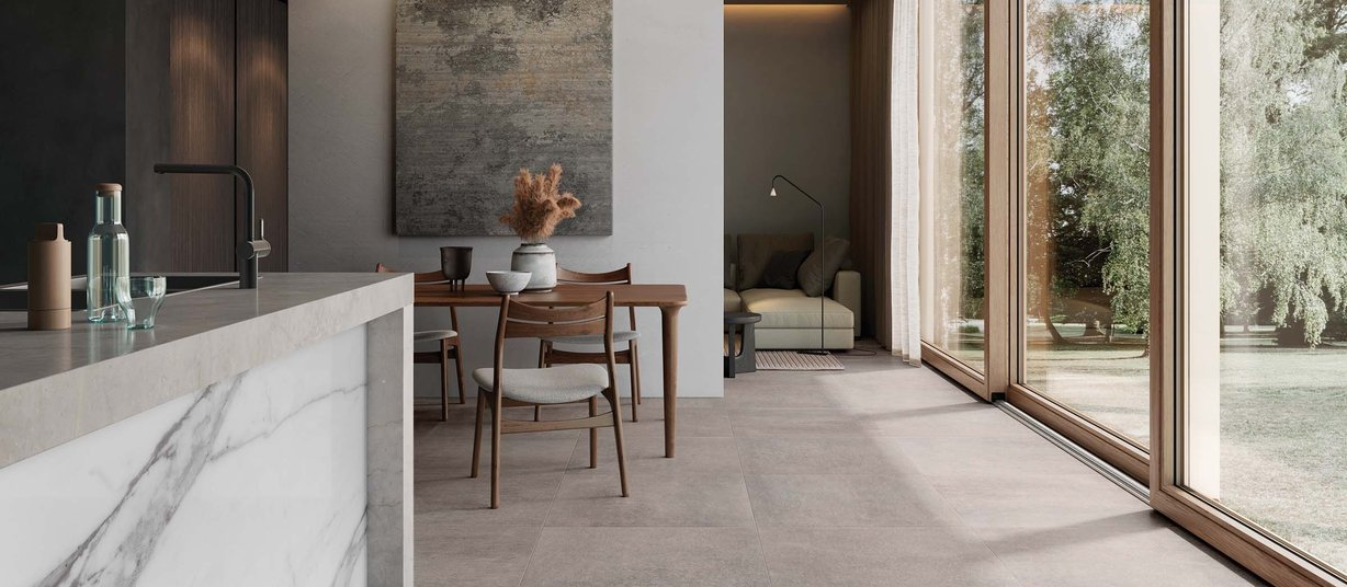 city stone Marrone piastrelle Moderno stile Living