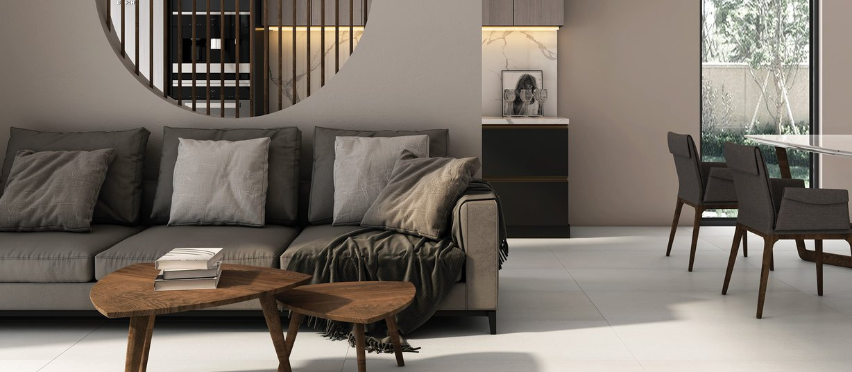 Cleo Grey tiles Modern style Living