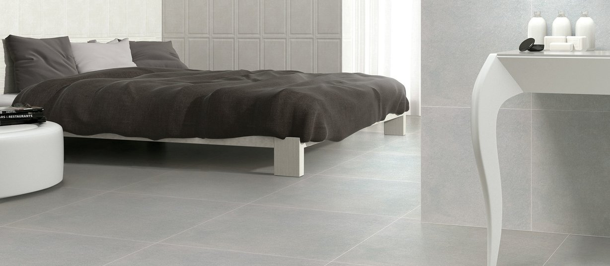 concreto Grey tiles Modern style Living
