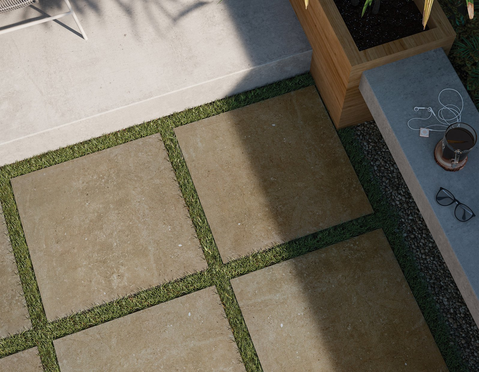 core stone Brown tiles Modern style Outdoor