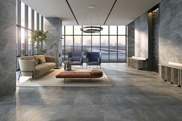 curton Grey tiles Modern style Living