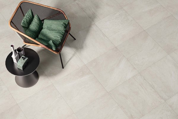 curton Beige tiles Modern style Living