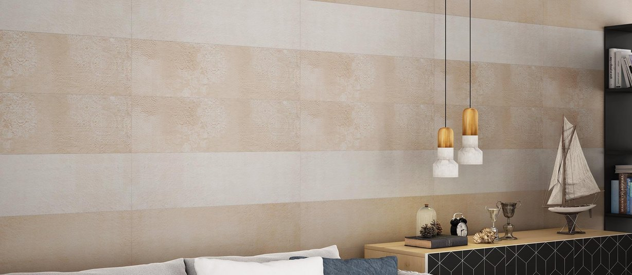 dennis Beige and Ivory tiles Modern style Living