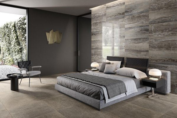 design concrete Brown and Grey tiles Modern style Living