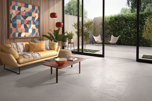 Design concrete Grey tiles Modern style Living