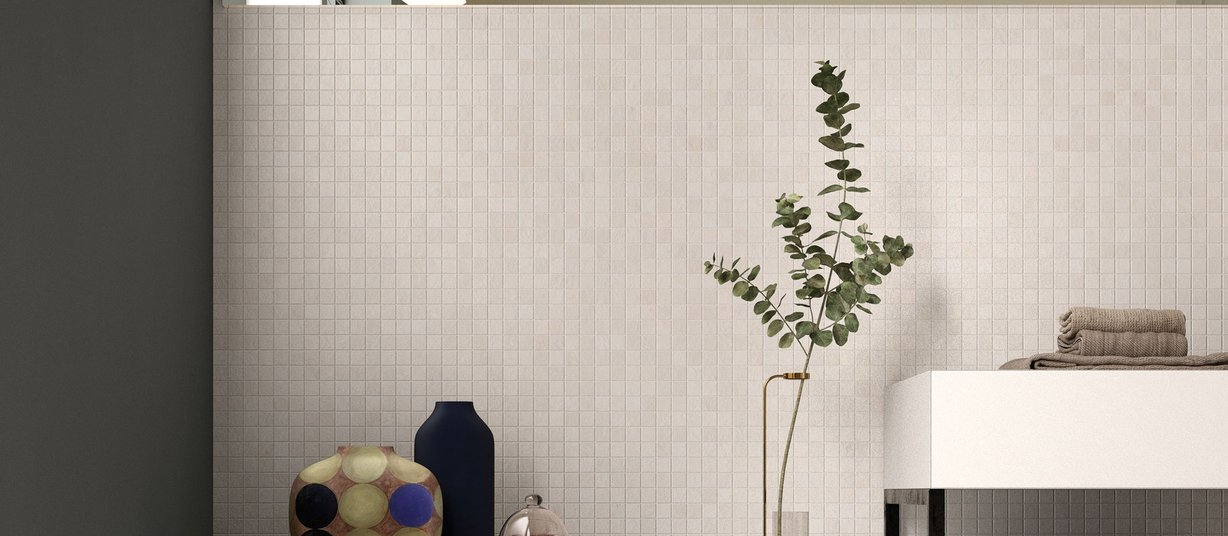 design concrete Beige and Ivory tiles Modern style Bathroom