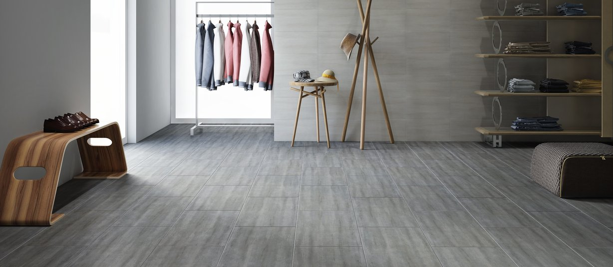 dolomite Grey and Ivory tiles Modern style Living