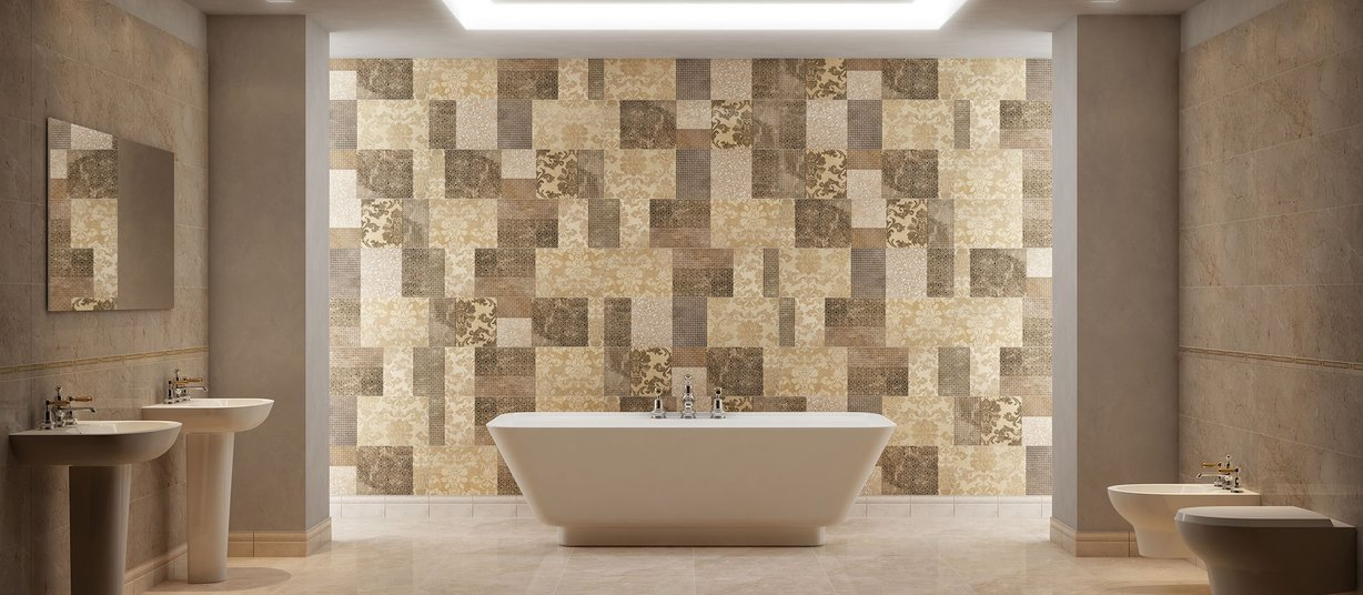 Dream marble Beige tiles Classic style Bathroom