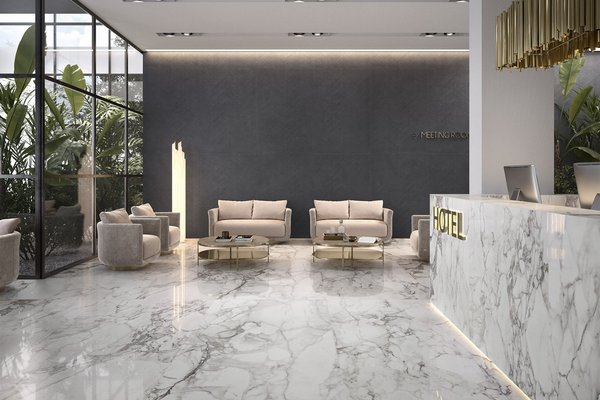 elle marble White tiles Modern style Light Commercial