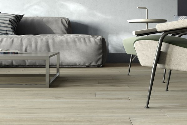Hard wood Brown and Ivory tiles Modern style Living