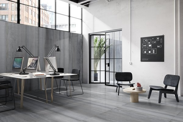 Icon metal Grey tiles Modern style Living
