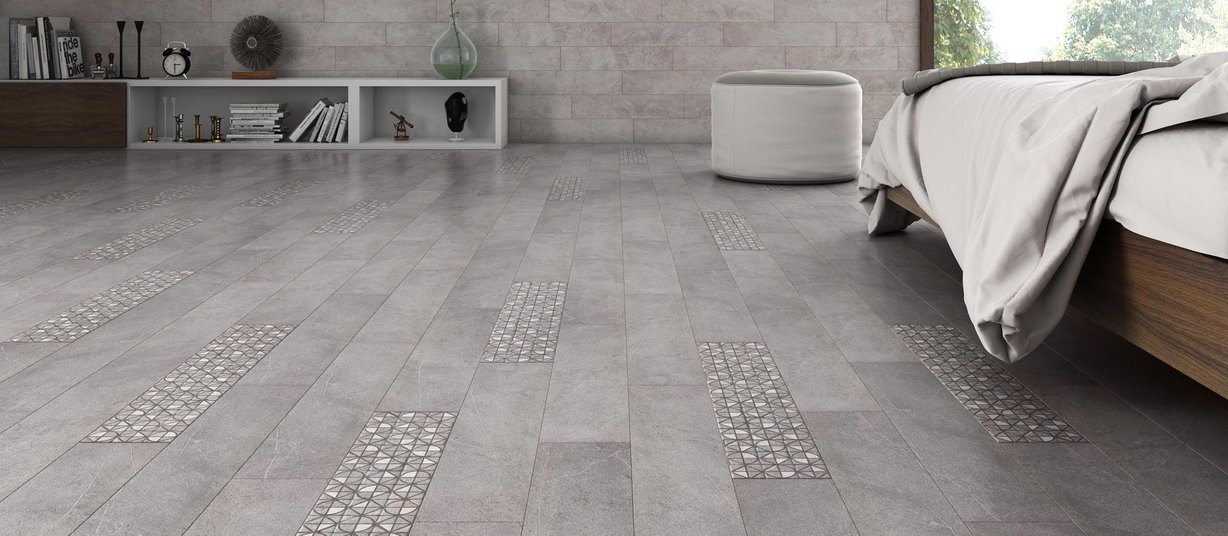 Jewel stone Grey tiles Modern style Living