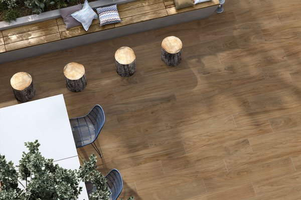 line wood Brown tiles Modern style Outdoor
