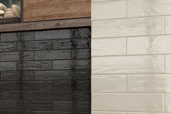 Loft brick Black and White tiles Modern style Light Commercial