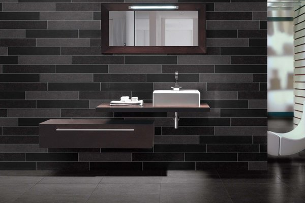 lounge Grey and White tiles Modern style Bathroom