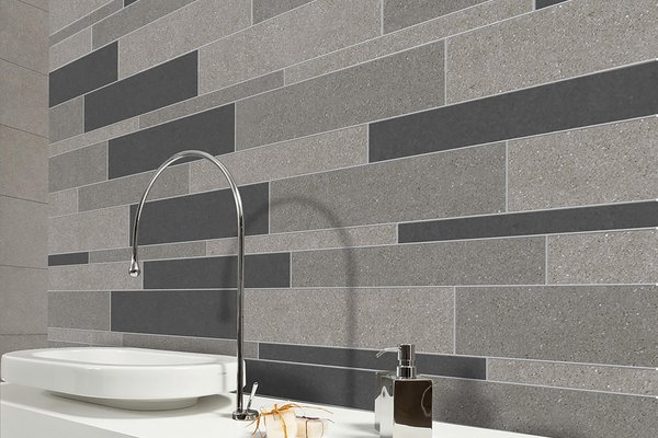 lounge Grey tiles Modern style Bathroom