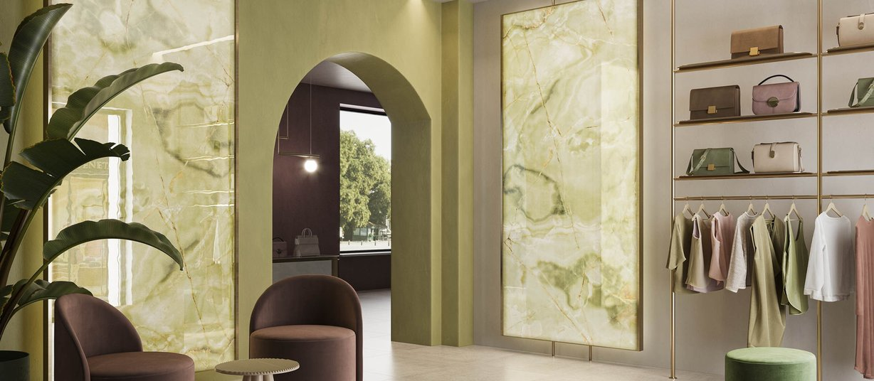 Luce Yellow tiles Modern style Light Commercial