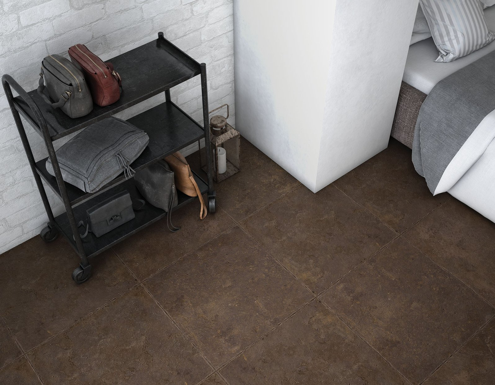 Lux stone Brown tiles Classic style Living