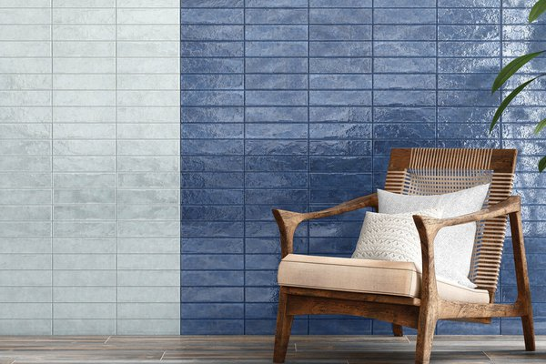 marakkesh Blue tiles Modern style Living