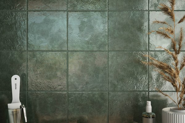 marakkesh Green tiles Modern style Bathroom